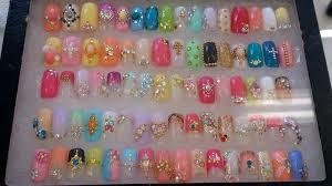 nail design ideas with stones nail arts