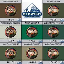 badger modelflex paint 1704 military colors set 7 colors