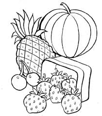 food coloring pages pineapple strawberry pumpkin coloringstar
