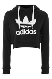 adidas crop top sweater crop logo hoodie by adidas originals topshop usa