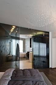 glass wall design concrete interior in osice czech republic