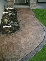 Cost Of Concrete Patio by Poured Concrete Patio Designs Curved Back Yard Patio Broom