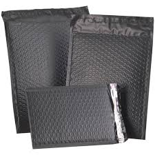 matte black wrapping paper black matte padded mailers self adhesive closure jam paper