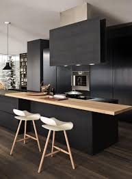 cuisine noir mat et bois trend alert matt black kitchens black kitchen countertops black