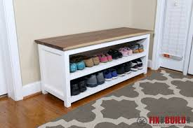diy entryway shoe storage bench fixthisbuildthat