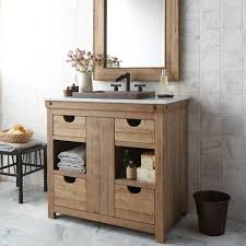 image of witching reclaimed wood furniture bathroom vanity for