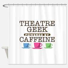 theatre geek shower curtains theatre geek fabric shower curtain