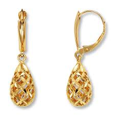 drop earrings 14k yellow gold