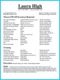 Musical Theater Resume Sample by Amazing Actor Resume Samples To Achieve Your Dream