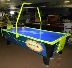 used coin operated air hockey table flash ii air hockey table by valley dynamo with overhead scoring