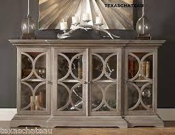 xl hollywood regency silver wood buffet console display