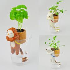 self watering animal indoor flowerpot