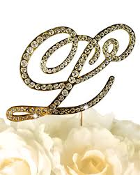 gold letter cake topper collection rhinestone monogram cake topper in gold letter l