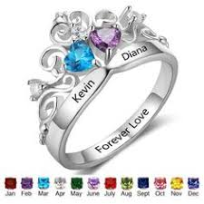 one mothers ring personalized engraved one s birthstone ring