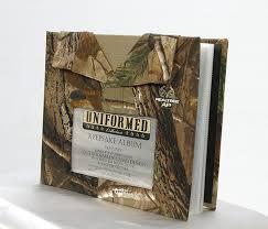 camo photo album uniformed scrapbooks of america ap pattern real tree 8 x 8 album