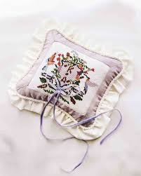 wedding pillow rings 16 stylish wedding ring pillows martha stewart weddings
