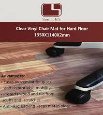 Chair Mats For Laminate Floors Amazon Com Sumaclife Office Home Clear Vinyl Carpet Chair Mat 36