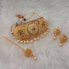 plated choker necklace images Utkrishtt austrian stone gold plated choker necklace set jpg