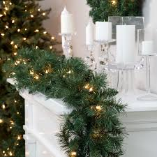 halloween lighted garland pre lit christmas garlands u2013 happy holidays