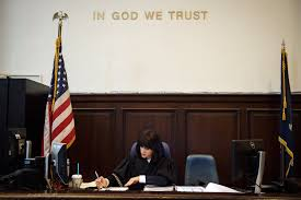 American Flag At Night Rules Judge Ruchie The Hasidic Superwoman Of Night Court The New York