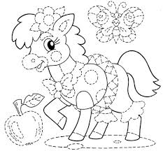 new trace lines animal worksheets for kids coloring point
