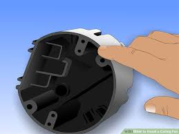 How To Change A Ceiling Fan by How To Safely Install A Ceiling Fan Wikihow