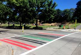 Afican Flag Community Members Paint Pan African Flag Crosswalk Rather Than