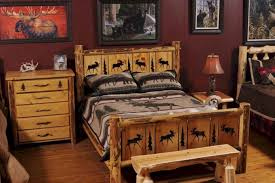 Log Bed Pictures by Masculin Rustic Bedroom Interior Design Style Using Reclaimed Wood