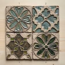 Kitchen Medallion Backsplash by Handmade Ceramic Rustic Tiles For Kitchen Bathroom Backsplash By