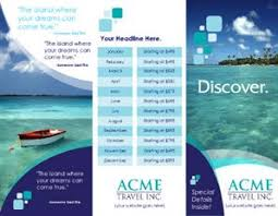 travel and tourism brochure templates free free printable travel brochure templates