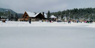 evergreen lake house ice skating outdoor project