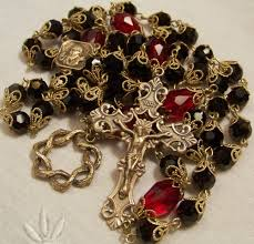 rosaries blessed by pope francis st padre pio rosary 8mm black crystals antique bronze