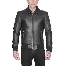 leather jackets belmont leather jacket black with nickel hardware straight to