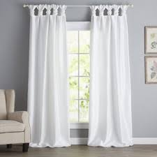 White Tab Top Curtains White Cotton Tab Top Curtains Wayfair