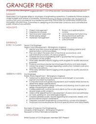 Civil Engineer Resume Template by Engineering Cv Yun56 Co