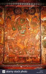 wall painting murals lord krishna playing flute in panayannar kave stock photo wall painting murals lord krishna playing flute in panayannar kave bhagawathi temple at parumala near munnar kerala india