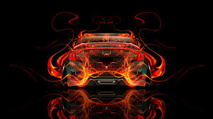 red orange cars honda civic jdm back fire abstract car 2015 el tony