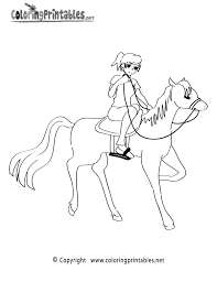 horseback riding coloring page u2013 a free sports coloring printable