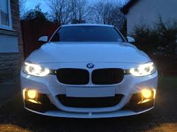 bmw f30 fog light bulb yellow fogs installed opinions