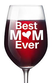 Unique Holiday Gift Idea Glass Amazon Com Best Mom Ever Wine Glass Christmas Gift For Moms