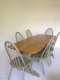 Ercol Dining Table And Chairs Large Ercol Dining Table And 6 Chairs Pai Folksy