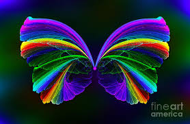 rainbow butterfly digital by klara acel