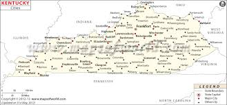 kentucky map buy kentucky cities map