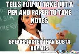Highschool Memes - unhelpfull highschool teacher by baraa meme center