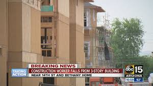 three story building construction worker falls from three story building in