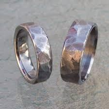 titanium wedding band sets ground texture titanium handmade wedding ring set brinkjewelry