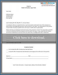 company offer letter template writing a collection letter lovetoknow