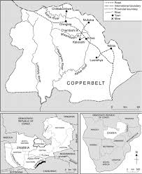 Zambia Map Location Map Showing Zambia The Copperbelt Province And The