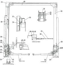auto lift parts overall breakdown for hydra lift models 28acf and