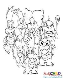 super mario enemies super mario coloring pages